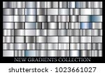 silver gradient set background... | Shutterstock .eps vector #1023661027