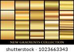 gold gradient set background... | Shutterstock .eps vector #1023663343