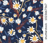 seamless pattern with small... | Shutterstock .eps vector #1023667567