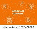 conceptual business...   Shutterstock . vector #1023668383