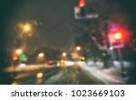view of blurred road with lots... | Shutterstock . vector #1023669103