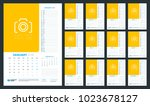 calendar planner for 2018 year. ... | Shutterstock .eps vector #1023678127