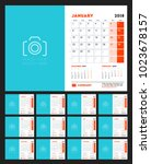 calendar for 2018 year. week... | Shutterstock .eps vector #1023678157