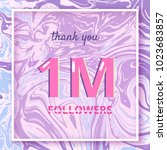 1m followers thank you square... | Shutterstock .eps vector #1023683857