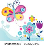 cute butterfly and whimsy...