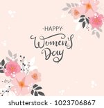 happy woman's day vector design ... | Shutterstock .eps vector #1023706867