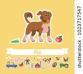 cartoon pig vector flat... | Shutterstock .eps vector #1023717547