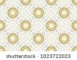 colorful mosaic seamless... | Shutterstock . vector #1023722023