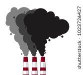 environmental pollution problem ... | Shutterstock .eps vector #1023726427