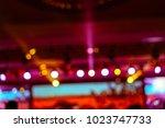 defocused entertainment concert ... | Shutterstock . vector #1023747733