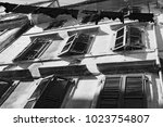 corfu  greece    old city corfu.... | Shutterstock . vector #1023754807