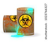 chemical biological waste in a... | Shutterstock .eps vector #1023766327