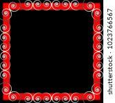 vector framework. silver... | Shutterstock .eps vector #1023766567