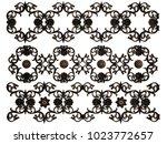 ornament bronze on a white... | Shutterstock . vector #1023772657