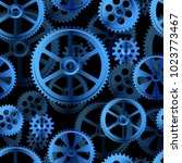 abstract mechanical background  ... | Shutterstock .eps vector #1023773467
