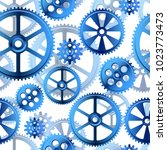 abstract mechanical background  ... | Shutterstock .eps vector #1023773473