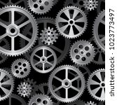 abstract mechanical background  ... | Shutterstock .eps vector #1023773497