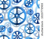abstract mechanical background  ... | Shutterstock .eps vector #1023773503