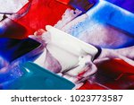 painted abstract background | Shutterstock . vector #1023773587