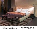 luxury bedroom interior. | Shutterstock . vector #1023788293