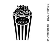 popcorn flat icon | Shutterstock .eps vector #1023798493