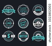 circle vintage and retro badge... | Shutterstock .eps vector #1023802003