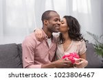 african american girlfriend... | Shutterstock . vector #1023806467