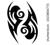 tattoo tribal vector design.... | Shutterstock .eps vector #1023806773