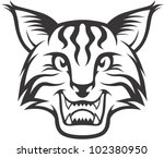 Wild Lynx Illustration - stock vector