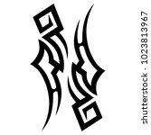 tattoo tribal vector design. | Shutterstock .eps vector #1023813967