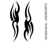 tattoo tribal vector design. | Shutterstock .eps vector #1023813973