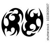 tattoo tribal vector design. | Shutterstock .eps vector #1023820837