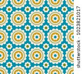 seamless retro pattern with... | Shutterstock .eps vector #1023821017