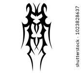 tattoo tribal vector design. | Shutterstock .eps vector #1023828637