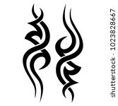 tattoo tribal vector design.... | Shutterstock .eps vector #1023828667