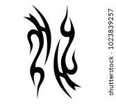 tattoo tribal vector design....   Shutterstock .eps vector #1023839257