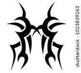 tattoo tribal vector design.... | Shutterstock .eps vector #1023839263