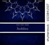 luxury invitation template with ... | Shutterstock .eps vector #1023841537