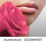 close up beautiful female lips...   Shutterstock . vector #1023844837