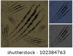 claw scratches background in... | Shutterstock .eps vector #102384763