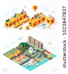 build your own city . set of... | Shutterstock .eps vector #1023847837