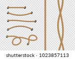 vector realistic isolated rope... | Shutterstock .eps vector #1023857113
