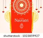 navratri hindu festival design  ...   Shutterstock .eps vector #1023859927