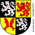 coat of arms of flonheim is... | Shutterstock .eps vector #1023861937