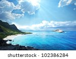 Hawaii island - stock photo