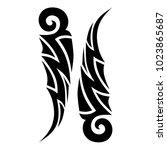 tattoo tribal vector design. | Shutterstock .eps vector #1023865687