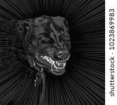 vector illustration of an evil... | Shutterstock .eps vector #1023869983