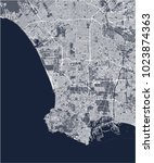 vector map of the city of los... | Shutterstock .eps vector #1023874363