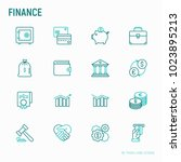 finance thin line icons set ... | Shutterstock .eps vector #1023895213