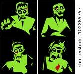 zombies | Shutterstock .eps vector #102389797